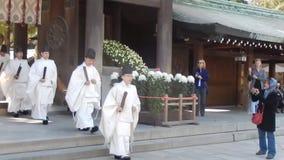 Shintoistische Priester, Tokyo, Japan stock footage