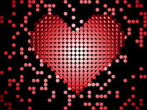 Shiny 3D Dots Red Heart. Royalty Free Stock Photos