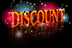 Shiny 3D lettering DISCOUNT Royalty Free Stock Photo