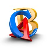 Shiny ABC letters. Education, pedagogy, learning languages idea. Stock Photos