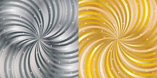 Shiny abstract background - gold and silver. Royalty Free Stock Image