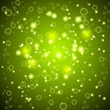 Shiny abstract background. Green color. Stock Images