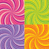 Shiny abstract background - orange, green, pink Stock Images