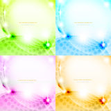 Shiny abstract background set. Eps10 vector illustration Stock Image