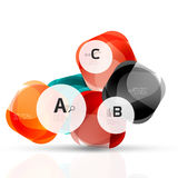 Shiny abstract elements Stock Images