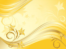 Shiny Abstract Floral Vector Stock Image