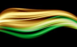 Shiny Abstract Wave. Shiny and beautiful yellow and green abstract wave Royalty Free Stock Photos