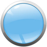 Shiny abstract web button with metal ring Stock Images