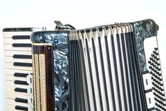 Shiny accordeon have white and black button Stock Photos