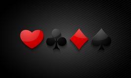 Shiny ace cards symbols. Stock Photography