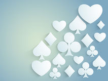 Shiny ace cards symbols for Casino. Royalty Free Stock Photos