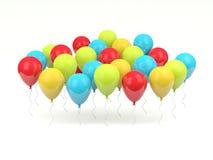 Shiny air balloons Stock Photo