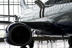 Shiny airplane Royalty Free Stock Photos