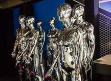 Shiny Aliens Stock Photography