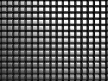 Shiny aluminum square pattern background. 3d illustration royalty free illustration