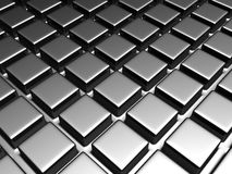 Shiny aluminum square pattern background Stock Photography
