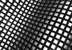 Shiny aluminum square pattern background Stock Photos