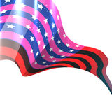 Shiny american flag design Stock Image