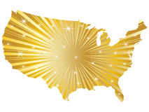 Shiny american map Stock Photo