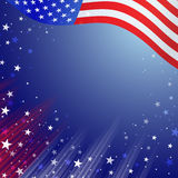 Shiny American national flag waving for Fourth of July. Independence Day celebrations Royalty Free Stock Photography