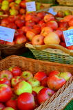 Shiny Apples At A Market Stall Royalty Free Stock Image
