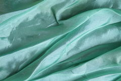 Shiny aqua blue silk handkerchief Royalty Free Stock Photos