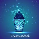 Shiny Arabic lamp for holy month Ramadan Kareem celebration. Stock Images