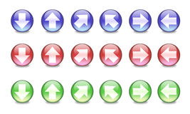 Shiny arrow icons Stock Photo