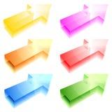Shiny arrows stock photo