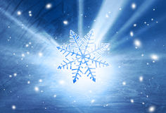 Shiny artistic snowflake illustration background Royalty Free Stock Photo