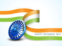 Shiny Ashoka Wheel for Indian Republic Day celebration. Royalty Free Stock Photos
