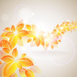 Shiny autumn background Stock Images