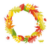 Shiny Autumn Natural Leaves Background. Vector Stock Photography