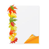 Shiny Autumn Natural Leaves Background. Vector Stock Photo