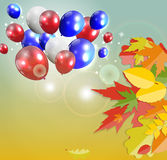 Shiny Autumn Natural Leaves Background. Vector Royalty Free Stock Photos