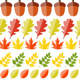 Shiny Autumn Natural Leaves Seamless Pattern Royalty Free Stock Image
