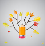 Shiny Autumn Natural Tree Background. Vector Stock Images