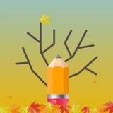 Shiny Autumn Natural Tree Background. Vector Royalty Free Stock Photos