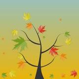 Shiny Autumn Natural Tree Background. Vector Stock Image