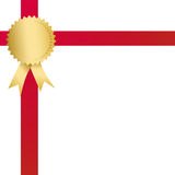 Shiny award ribbon Stock Photo