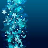 Shiny background with abstract glowing stars. Vector holiday bac Stock Photography