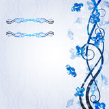 Shiny background blue cool shape banner Royalty Free Stock Images