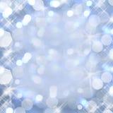 Shiny background of blue lights Royalty Free Stock Image