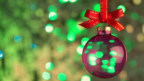 Shiny Background and Christmas Ball. Seamless Loop stock video