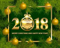 Shiny background with Christmas decorations Royalty Free Stock Photo