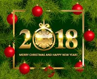 Shiny background with Christmas decorations Royalty Free Stock Photography