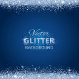 Shiny background with glitter frame and space for text Royalty Free Stock Photography