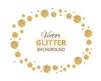 Shiny background with golden glitter dots decoration Royalty Free Stock Photo