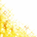 Shiny background of golden lights Stock Photo
