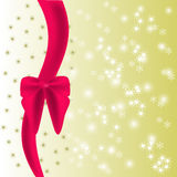 Shiny background with  red bow Stock Photography